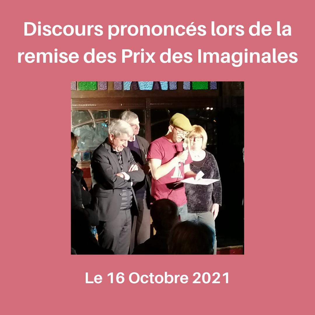 Discours prononcés le 16 Octobre 2021