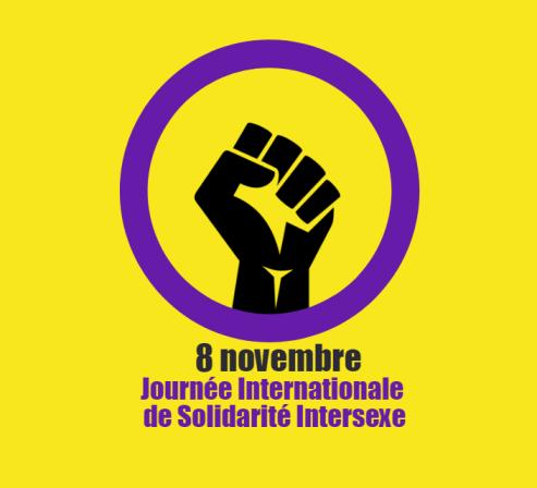 Visuel du 8 novembre - Journée Internationale de Solidarité Intersexe