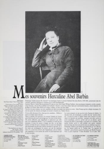 Photo et article de presse : Mes Souvernis Herculine Abel Barbin
