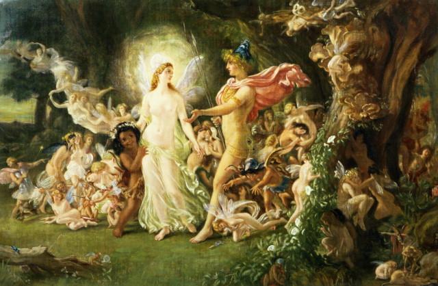 La querelle d'Oberon et de Titania, Sir Joseph Patton – 1849